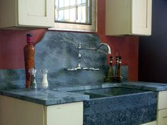 Kitchen Countertop Alternatives : Soapstone, Paperstone, Copper, Glass, Leather, Quartz. The soapstone and Paperstone are beautiful.