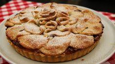 Æbletærte med rosmarin og karamel