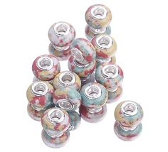 $1.04   Mixed Color Nature Stone European Murano Charm Beads Bracelets Silver Big Hole http://www.eozy.com/mixed-color-nature-stone-european-murano-charm-beads-bracelets-silver-big-hole.html