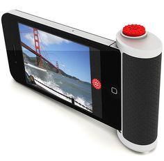 Red Pop novo produto lançado por Beep Industries, é um acessório para iPhone que acrescenta um grande botão vermelho a câmera do iPhone para que você nunca perca o momento de uma foto perfeita.