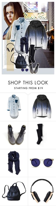 """""""New Music............."""" by style-stories ❤ liked on Polyvore featuring Toni&Guy, Gap, Dr. Martens, Lands' End, MANGO, Spitfire, Longchamp and Pryma"""