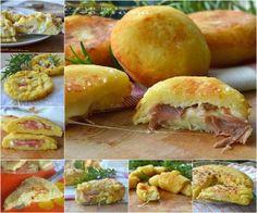 Focaccine di patate veloci con gorgonzola e speck, troppo golose, sfiziose, si sciolgono in bocca, sono saporite e gustose e si preparano in poco tempo