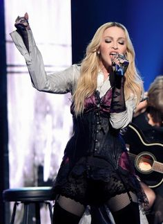 Madonna, the super talented and ageless Queen, with too many hits, singing one of her last hits of the super album Rebel Heart