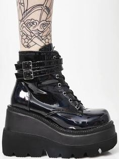 2abd35d7050 Demonia Dark Prism Technopagan Boots Black 11