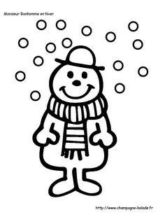 Monsieur bonhomme et les flocons de neige, maternelle Monsieur Madame, Art Plastique, Snowman, Arts, Coloring, Fictional Characters, Album, Mr Men Little Miss, Nursery Rhymes