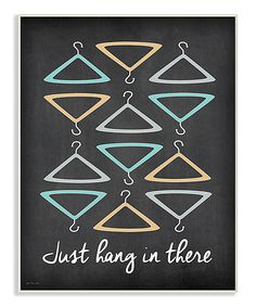 'Just Hang In There' Illustration Wall Art