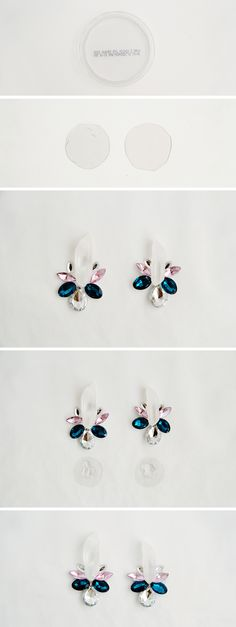 DIY Quartz Stone & Rhinestone Earrings | Fall For DIY