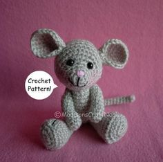 "#FreeCrochetPattern - We love this Morris the Mouse pattern by Indie Designer MadisonsCraftNook! Click the image for the free instant download of the pattern and click ""Repin"" if you think Morris the Mouse is adorable! #crocheting #pattern"