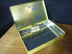 TEAL Vintage State Express 555 Cigarette Tin for Tasman Empire Airways Limited
