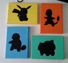 Pokemon Silhouette Canvas
