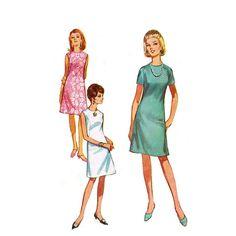 1960s ALine Dress Pattern Simplicity 7072 Bust by JFerrariDesigns, $9.00