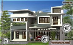 Modern Home Architecture Plans Two Story House Plans, Simple House Plans, Beautiful House Plans, New House Plans, Best Modern House Design, Modern Exterior House Designs, Modern Architecture House, Architecture Plan, Modern Houses Pictures