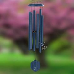 "Bells Of Vienna 55"" Midnight Blue Wind Chime - Scale Of G Midnight Blue is an eye-catching splash of color that will be sure to attract the attention of guests and visitors. One of Bells Of Vienna windchimes most compellingly popular colors. It adds a colorfull presence to any patio, deck or room, producing a deep blue spectrum of color. #MadeintheUSA#Crafts"