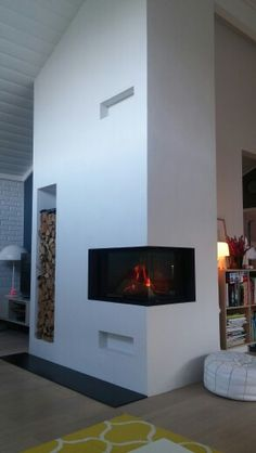 Make a #cozy #atmosphere with the #Visio #fireplace from #RAIS ...