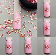 - Best ideas for decoration and makeup - Xmas Nail Designs, Winter Nail Designs, Winter Nail Art, Winter Nails, Nail Art Designs, Xmas Nails, Holiday Nails, Rhinestone Nails, Bling Nails