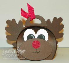 Control Freaks November Blog Hop! Stampin' Up! Curvy Keepsakes Box Die Punch Art Reindeer. Debbie Henderson, Debbie's Designs.