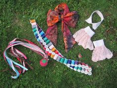 Upcycled Costume Accessory Kit - 5 Piece Set - Mad Hatter - Alice in Wonderland. $150.00, via Etsy.