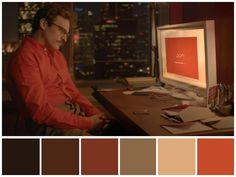 """Ela (2013) • Direção: Spike Jonze • Fotografia: Hoyte Van Hoytema • Design de Produção: K.K. Barrett"""""""