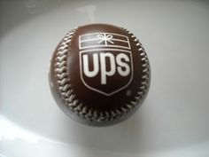 ** RARE**United Parcel Service Brown Baseball. Hand stitched leather.