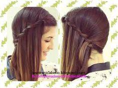 peinados para cabello corto trenzas paso a paso - Buscar con Google Bobby Pins, Hair Accessories, Make Up, Long Hair Styles, Lady, Image, Beauty, Google, Hairstyles