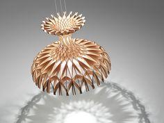 Lampada a sospensione in legno DOME 90 by BOVER Il. Luminació & Mobiliario design Benedetta Tagliabue, EMBT