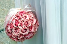Pretty Pink Kissing Ball