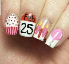 Cute B-Day Nails!!