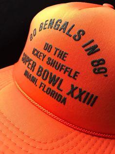 e10b51e7 Cincinnati Bengals Vintage SUPER BOWL XXIII Snapback hat (Mesh Sides &  Back) NFL | eBay