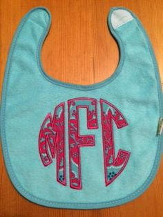 Custom Personalized Monogrammed Applique Bib by AimeesAppliques
