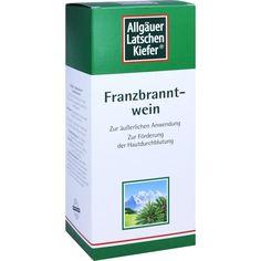 ALLGÄUER LATSCHENKIEFER Franzbranntwein extra stark:   Packungsinhalt: 1000 ml Lösung PZN: 02031140 Hersteller: Dr. Theiss Naturwaren…