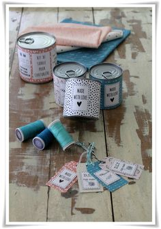 Vraiment trop fort : de la couture en conserve ! Et avec le tuto et les étiquettes à imprimer !!!!