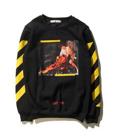 Dmart7deal OFF WHITE C/O Hoodies Men Women Religious Outerwear Coats Hip Hop Skateboard PALACE VLONE Male Hooded Sweatshirts