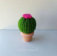 cosicasraquel: Cactus de Crochet - Tres Patrones Gratuitos !!! Knitted Hats, Crochet Hats, Sewing, Knitting, Crafts, Image, Crochet Cactus, Craft, Toe