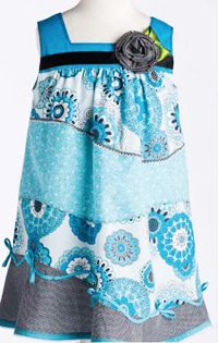 Blue-Ming Sassafras Dress Kit. As seen in Kari's new book More Sewing with Whimsy. This kit has all the materials you'll need! karimeaway.com #sewing #whimsy