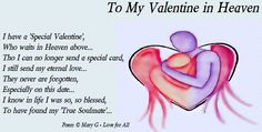 valentines for those in heaven | Valentine in Heaven | Inspirational Poems and Quotes