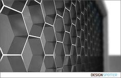 2-B-2 Architecture / Nikolaev / Profile / DESIGNSPOTTER.COM - hexagonal feature wall.