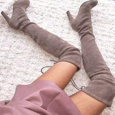 Thigh-high boots are all the rage this fall, and we totally understand why. #shopstyle