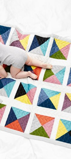 Reversible Patchwork Quilt - Hanna Andersson Nursery Decor