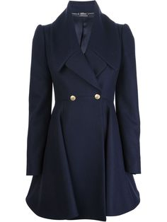 Alexander Mcqueen Flared Double Breasted Coat - Luisa World - Farfetch.com