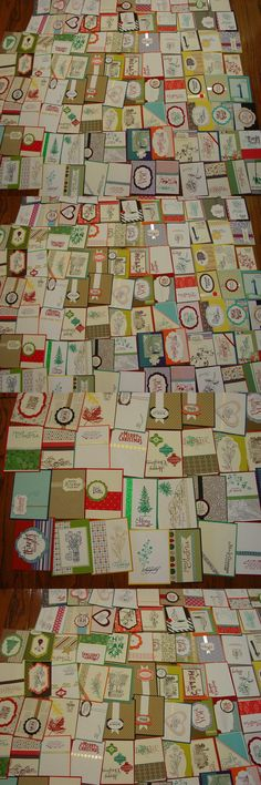 Greeting Cards and Gift Tags 146324: 100 Stampin Up Handmade Card Fronts~New Stamps And New Design (100 Total) -> BUY IT NOW ONLY: $41.99 on eBay!