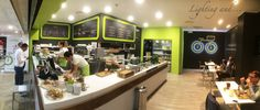 Combination of different materials and colors @Foodie's store Erbusco Via Rovato, 44 #light #luce #lumière #design #disegno #conception #interior #interno #intérieur #restaurant #ristorante #bar #mensola #tavolini #table #wood #legno #harmony #compatibility #architettura #architecture #Erbusco #Italia #italy #food #cibo