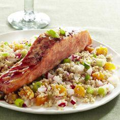 Pomegranate-Glazed Salmon #fruit #vegetables #grain #protein #myplate