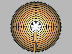 """Chartres Labyrinth, """"going in circles for good,"""" Barney Zwartz"""