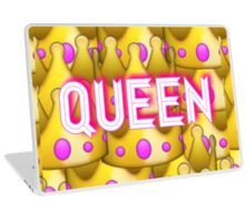 QUEEN crown emoji Laptop Skin