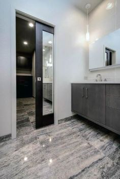 Tired of your small, dark and uninspiring bathroom? Well, there's no better time to give your small bathroom a fresh look. Small bathroom design is finally stepping out of the cookie… Continue Reading → Sliding Bathroom Doors, Sliding Doors, Door Design, House Design, Bedroom Closet Doors, Bathroom Closet, Master Closet, Master Suite, Bathroom Pocket Door