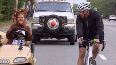 Watch Meredith surprise Matt (disguised as a deer!) on Red Nose ride