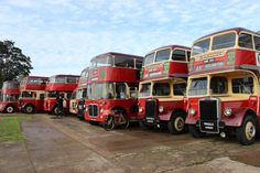 Barton - Chilwell depot 25/9/2016 - A line up of eight vehicles lined up for review
