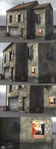 wwII normandy garage by Akuma1x on DeviantArt