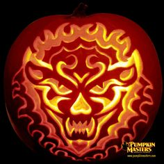 extreme pumpkin carving templates - howl pumpkin
