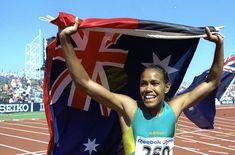 Výsledok vyhľadávania obrázkov pre dopyt aboriginal runner cathy freeman Outdoor Decor
